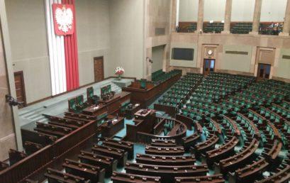 Przedstawiciele Samorządu Uczniowskiego ZST w polskim Parlamencie