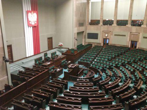 Przedstawiciele Samorządu Uczniowskiego ZST wpolskim Parlamencie