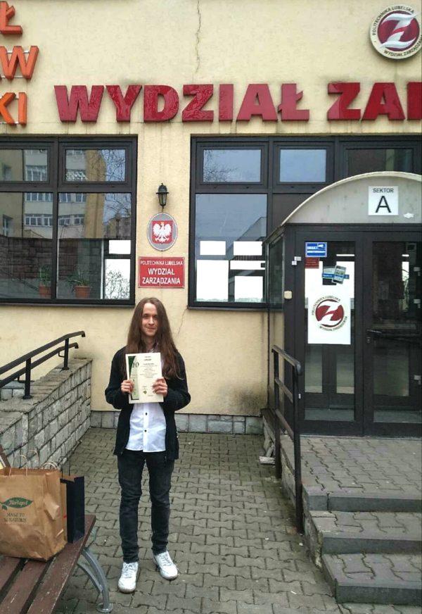 """Przemysław Kociuba laureatem X konkursu """"Matematyka w Technice dla Technika"""""""