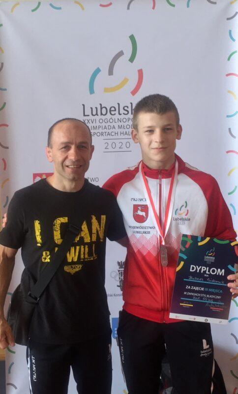 Brązowy medal Huberta Sidoruka na Ogólnopolskiej Olimpiadzie Młodzieży